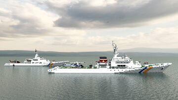 Kunigami-class & Hateruma-class coast guard patrol ship Minecraft Map & Project