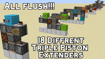 18 Types of Triple Piston Extenders Minecraft Map & Project