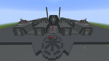 Coruscant Military Base Minecraft Map & Project