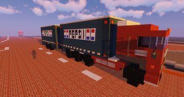 1.75:1 Scale European Scania Pepsi Truck & Tandem Trailer Minecraft Map & Project