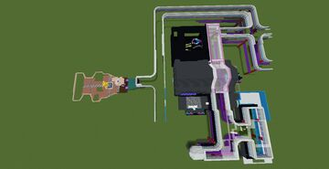 Mega pizza plex Five nights at Freddy's Mall 34% completed Minecraft Map & Project