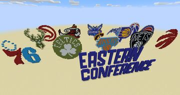 NBA Eastern Conference Teams pixel art Minecraft Map & Project
