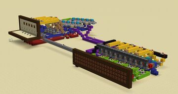 Morse code sender Minecraft Map & Project