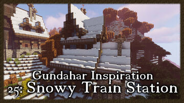 Snowy Train Station Minecraft Map & Project