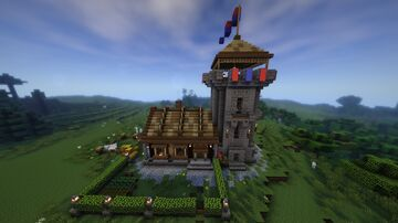 ||Minecraft: How To Build Medieval House Watch Tower || Minecraft Map & Project
