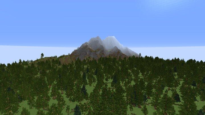 Mount Praven Mountain near Praven City