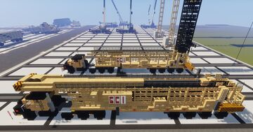 1.75:1 Scale  Mack Truck & G.C.I self-erecting tower crane Minecraft Map & Project