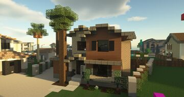 New American Suburban House Minecraft Map & Project