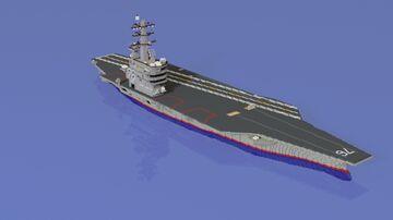 CVN-76 USS Ronald Reagan Aircraft Carrier Minecraft Map & Project