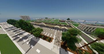 Californian styled strip mall Minecraft Map & Project