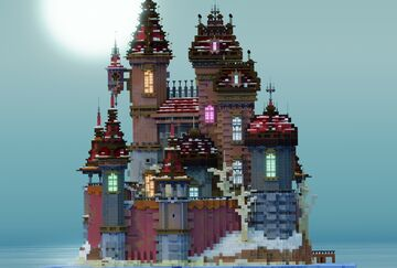 """Winter Roman castle"" Minecraft Map & Project"
