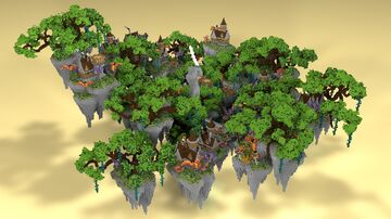 ⭐ EXCLUSIVE ⭐ Fantacy Medieval SkyBlock - AliensBuilds 🌳 Minecraft Map & Project