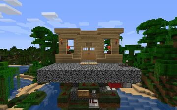 trapdoor secured house entrance Minecraft Map & Project
