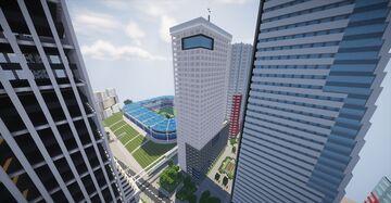 Newspaper Headquarters (Tokyo, Japan) Minecraft Map & Project