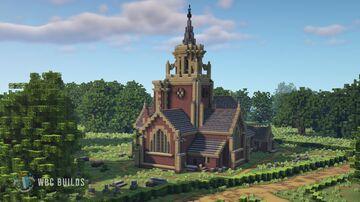 Edwardian Brick Church Minecraft Map & Project