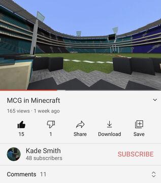Melbourne Cricket Ground Minecraft Map & Project