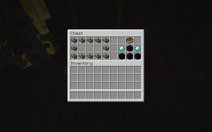 end portal and enchantment table once you beat the blazes
