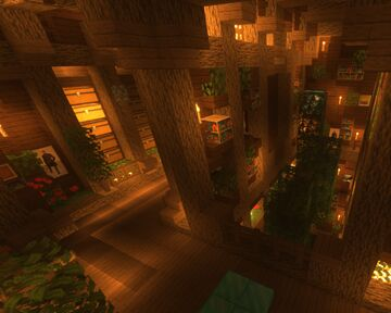 Medieval fantasy undegroud Base / Storage Minecraft Map & Project