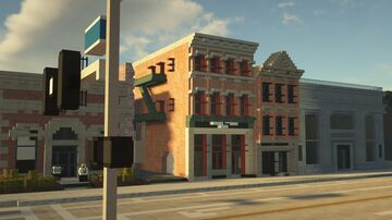 Realistic Old Town Strip Minecraft Map & Project