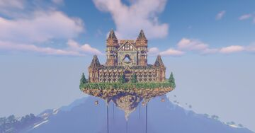 100x100 Castle Survival Spawn Minecraft Map & Project