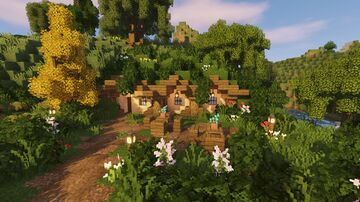 Small Hobbit Farming Village Minecraft Map & Project