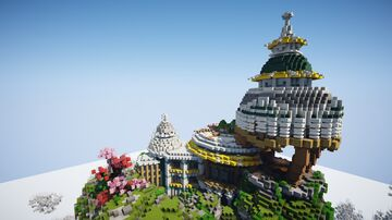 CLOUD SPAWN WITH PORTALS Minecraft Map & Project