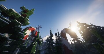 Christmas time it is (custom snow worldpainter map) Minecraft Map & Project