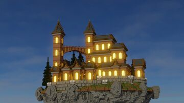 SkyTown Floating Island   Aderlyon Build Team Minecraft Map & Project