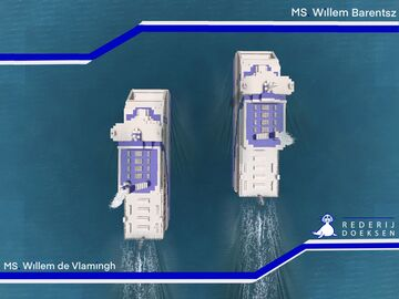 Ferries MS. Willem de Vlamingh & Willem Barentsz - Inspired by Rederij Doeksen Minecraft Map & Project