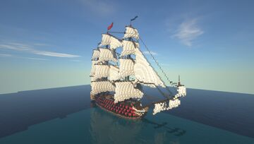 Liberty - 120 gun Heavy First Rate Ship of the Line Minecraft Map & Project
