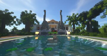 Jurassic Park Welcome Centre Minecraft Map & Project
