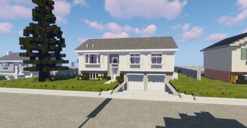 Split Level Home Minecraft Map & Project