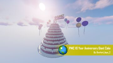 PMC 10 Year Anniversary Giant Cake Minecraft Map & Project