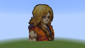 Sword of Mana - main character pixel art Minecraft Map & Project
