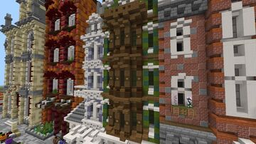 European Townhouses in World of Atria - 1 Minecraft Map & Project