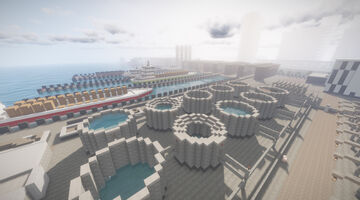 Cargo Hub & Harbour Minecraft Map & Project