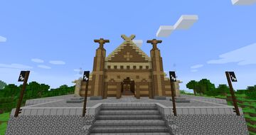 The Golden Hall of Rohan, Meduseld (revisited) Minecraft Map & Project