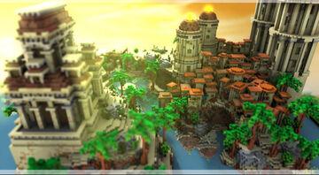 Grec city spawn | FastGoodBuild Minecraft Map & Project
