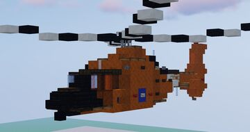 Eurocopter MH-65 Dolphin Minecraft Map & Project