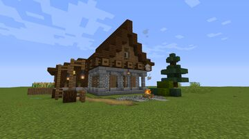 Medieval Country House Minecraft Map & Project