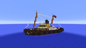 Tugboat HERMES IV Minecraft Map & Project