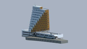 Brutalist Hotel Minecraft Map & Project