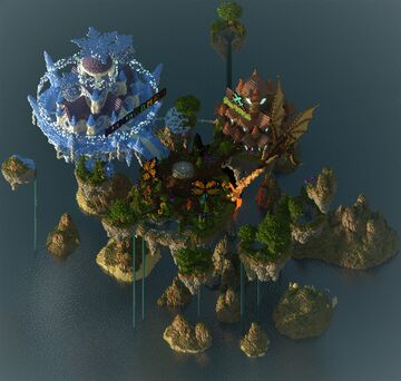 The Corvarian Network Hub Minecraft Map & Project