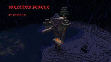 Skeleton Statue Minecraft Map & Project