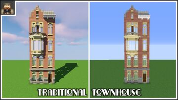 Tutorial: How to build a traditional townhouse Minecraft Map & Project