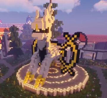 Arceus Statue Schematic Minecraft Map & Project