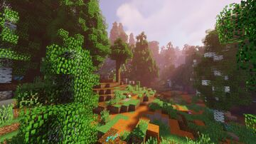Sasara - Mederian Red Forests - 1792x1280 Sample Minecraft Map & Project Minecraft Map & Project