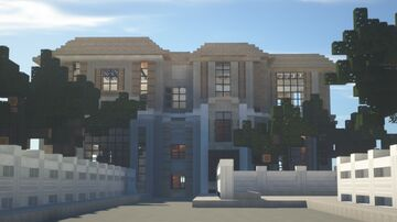 """""""Sand Mansion"""" Minecraft Map & Project"""