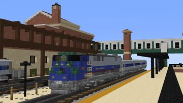 Poughkeepsie Train Station Minecraft Map & Project