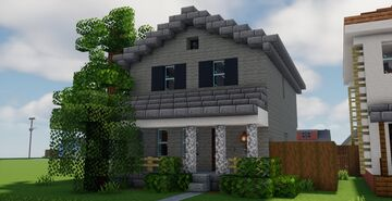 American Mid-West House #12 [Schematic] Minecraft Map & Project